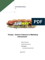 Ensayo Marketing Internacion Subway India y Venezuela