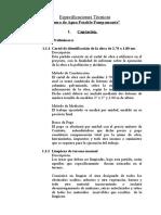 Especificaciones Tecnicas Sanitarias Proyecto PAMPAMONTE