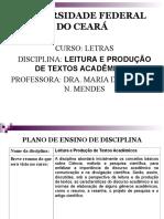 Aula 01 - Leitura e Produção de Textos Acadêmicos