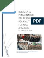 Regímenes Pensionarios PNP FFAA   D.L. 19846 y D. Leg. 1133