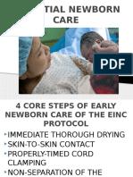 Essential Intrapartum and Newborn Care