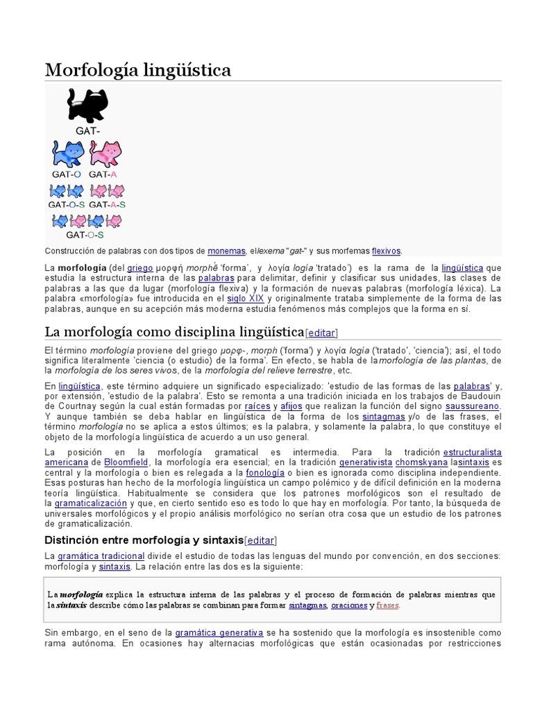 Morfología Lingüística Morfología Lingüística Símbolos