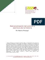 Democratización del archivo y escritura de la historia.pdf