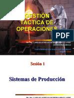 Gestión Táctica de Operaciones - Sesión 1 Sistemas de Producción