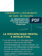 El Paradigma de La Discapacidad Social y Las Politicas Publicas