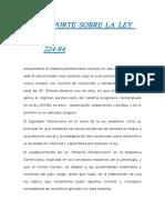Reporte Sobre La Ley 224