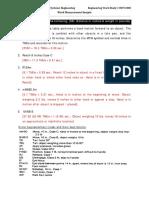 Work Measurement Sample [Coding Ans]