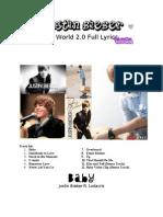 Justin Bieber My World 2.0 Full Lyrics