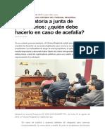 Convocatoria a Junta de Propietarios-Quién Debe Hacerlo en Caso de Acefalía