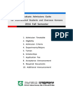 CNU_Graduate Admissions Guide for International Students(2016 Fall Semester)