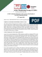 CCMG Verification Statement 15 Aug 2016 FINAL