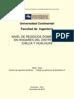 Nivel de Residuos en Hogares Del Dist. de Hualhuas y Chilca