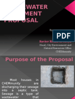 waste water treatment proposal