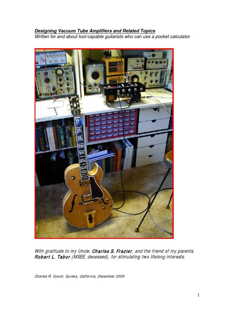 Designing V T Amplifiers Vacuum Tube Amplifier Simplevacuumtubeamplifier Amplifiercircuit Circuit Diagram