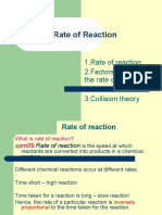 Rate of Reaction (Chapter 1)
