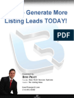 How to Generate More Listing Leads Today