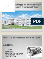 Automobile Engineering -UNIT 3:Transmission System