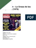 Serú Girán - La Grasa de las Capitales (1979)