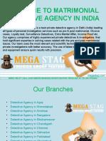 Matrimonial Detective Agency in India