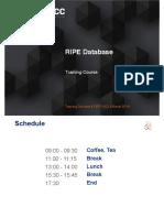 RIPE Database Training Slides