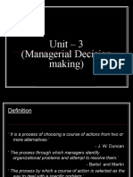 Decision Making Unit-3