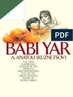 Babi Yar - Anatoly Kuznetsov & a. Anatoli