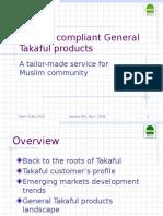Alhuda CIBE - Syariah Compliant General Takaful Products by Sami Guellouz