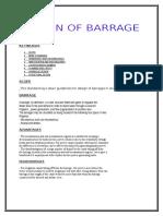 Design of Barrage