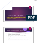 Class Audio & Video