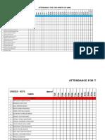 monitoring sheet sample