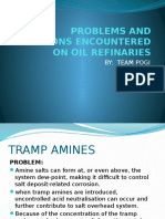 Problems encoutered in oil refineries