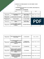 CRONOGRAMA   Octava  SEMANA DE LA CIENCIA Y LA TECNOLOGÍA