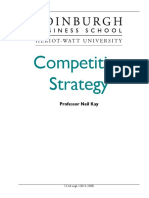 Competitive Strategy Course Taster