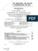 HOUSE HEARING, 113TH CONGRESS - STATE, FOREIGN OPERATIONS, AND RELATED PROGRAMS APPROPRIATIONS FOR 2015 Wednesday, March 12, 2014.