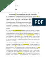 Ensayo Sobre El Subalterno y El Colonialismo y Ciencias Sociales (Corregido)