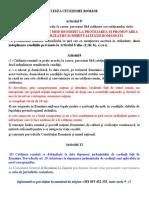 CETĂŢENIA ROMÂNĂ-Avizier Documente Necesare