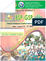 2016 -17 District Bsp Gsp Joint Camporal Aug 25 27 2016