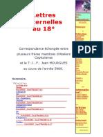 Lettres Fraternelles 18 EME