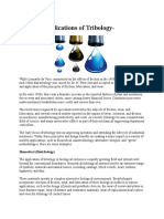 Modern Applications of Tribology