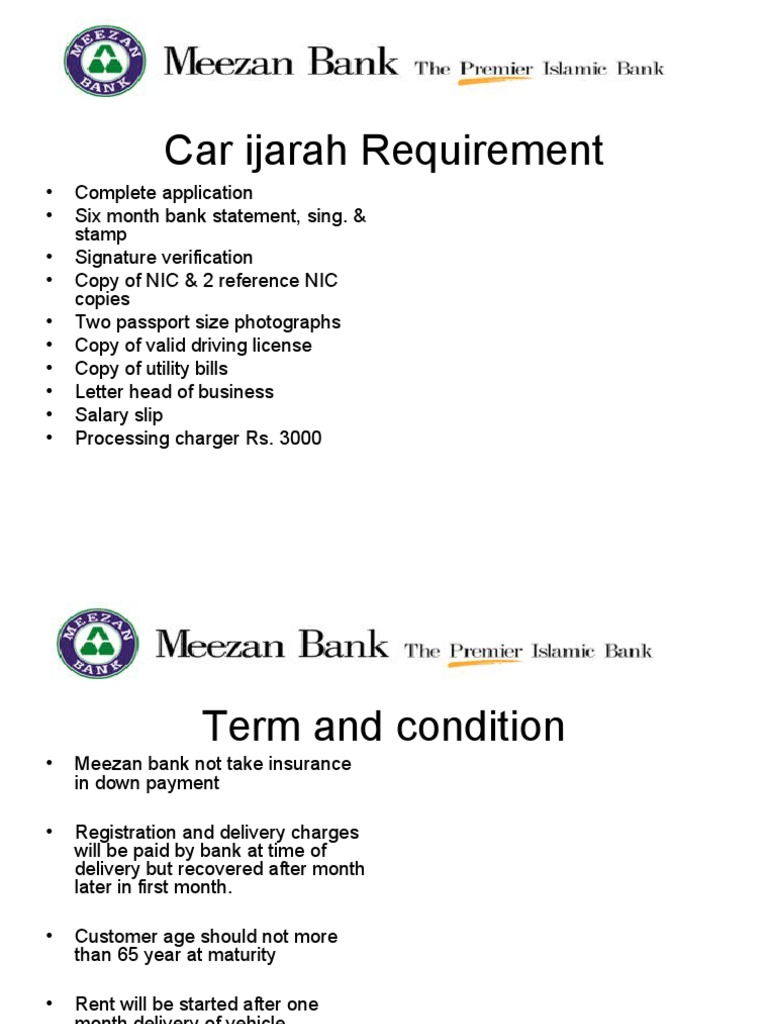 Meezan Bank Car ijara Calculater | Car | Land Vehicles