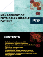 Management of Physically Disabled Patient Pedo