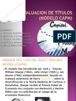 Valuacion de Titulos Modelo Capm Expo