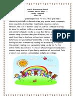 Holiday Homework Class III (2016-17) Aravali Int. School