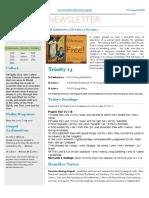 benefice newsletter 21 august 2016