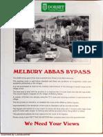 Melbury Abbas Consultation 1989