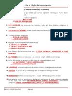 Banco de Preguntas s. Respiratorio y Urinario