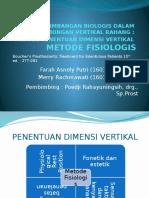 Metode Fisiologis Dan Dimensi Vertikal