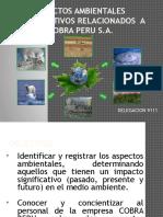 Aspectos Ambientales Significativos Relacionados a Cobra Peru