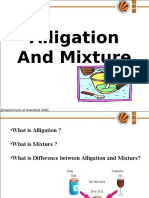 Lecture PPT of Alligation and Mixture (2) Solutions