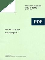 SS333 1996 Fire Damper